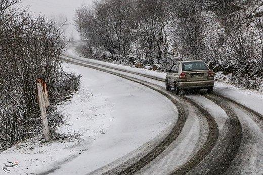 بارش برف ۱۵ تا ۴۰ سانتیمتری در ارتفاعات گیلان
