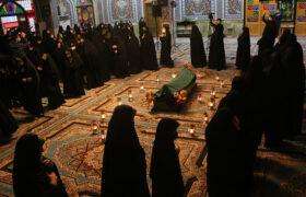 فیلم| تشییع نمادین تابوت حضرت فاطمه (س) در دیار سلطان