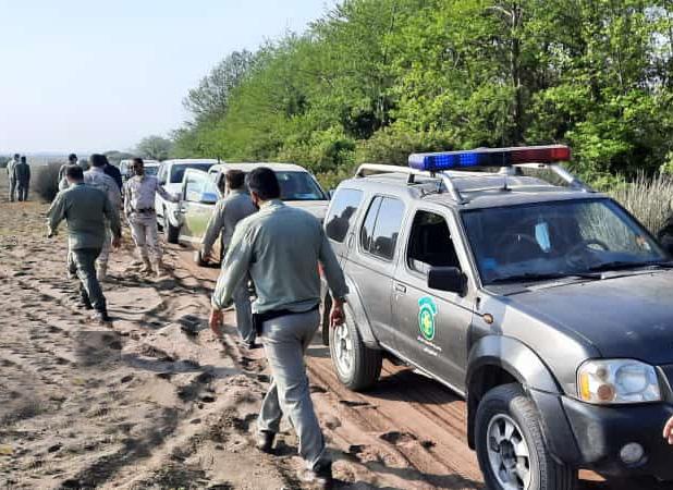 تخریب 17 کومه غیرمجاز صیادی در پاک ملی بوجاق کیاشهر