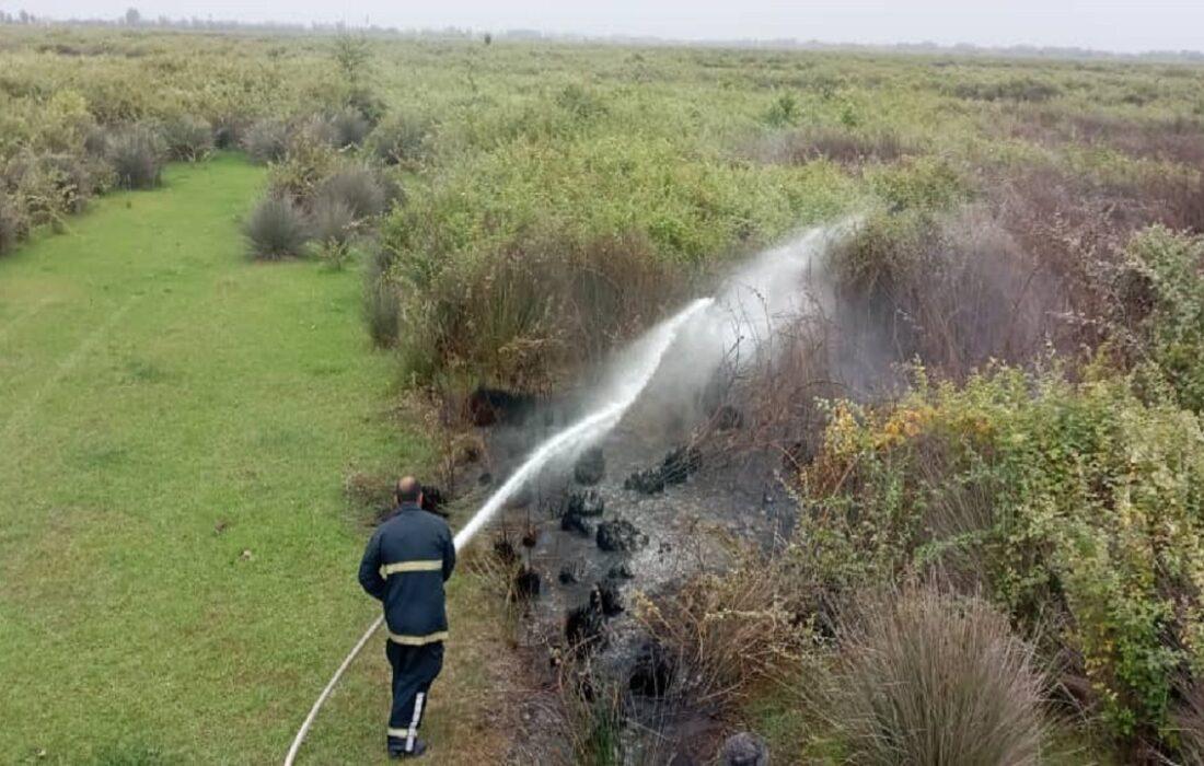 بیش از یک هکتار از بوجاق در آتش سوخت +عکس